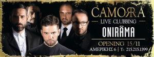 Onirama live στο Camorra στο Κολωνάκι!